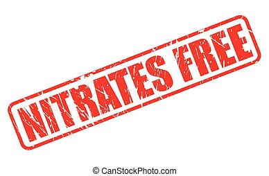 NITRATES FREE red stamp text