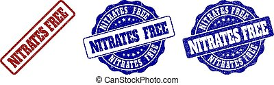 NITRATES FREE Scratched Stamp Seals