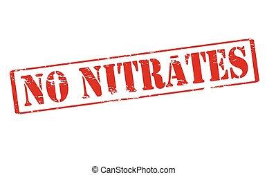 nitrates, no