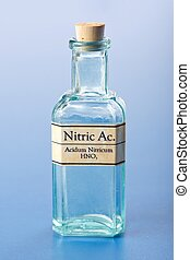 Nitric acid in small chemical bottle - Homeopathic nitric...