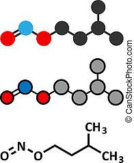 nitrite, konventionell, gebraucht, isoamyl, übertragung, ...