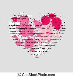 nitro, illustration., love., vektor, grafické pozadí.