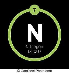 Periodic table element nitrogen icon periodic table element nitrogen chemical element urtaz Choice Image