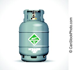 Nitrogen gas bottle concept