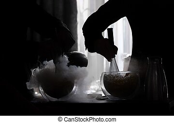 liquid nitrogen cooling technique, used in the modern cookery