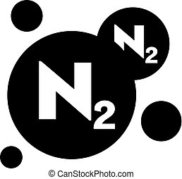 Nitrogen symbol (chemical element)