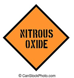 nitrous oxide sign on white background Sign, label, sticker.