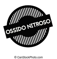 nitrous oxide stamp in italian - nitrous oxide black stamp...