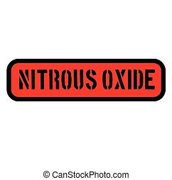 nitrous oxide stamp on white - nitrous oxide black stamp on...