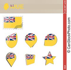Niue Flag Set, Flag Set #226