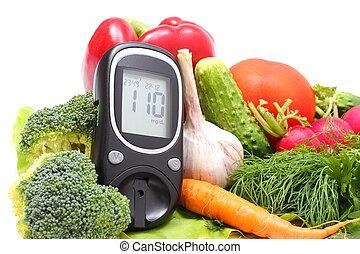 niveau, bois, légumes, mètre, planche découper, frais, ...