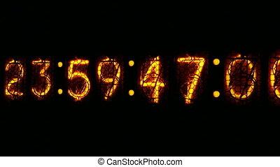 Nixie digital clock D1 - Digital clock countdown to midnight