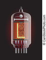 "Nixie tube indicator. - ixie tube indicator. Letter ""L"" from..."