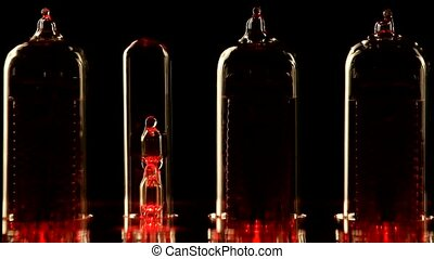 Nixie tube indicator of the numbers retro style - The real...