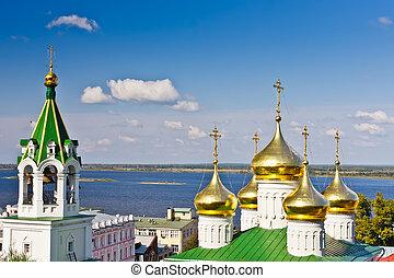nizhny, église, russie, novgorod