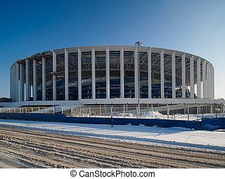 nizhny, construction, stade, novgorod