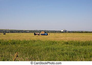 Nizhny Novgorod Region, Russia - July 8, 2020: Blue Kamaz ...