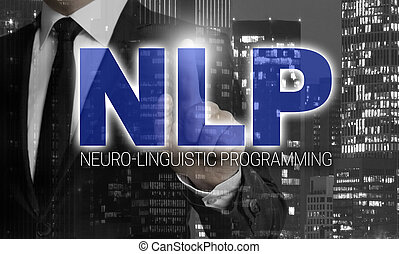 NLP concept is shown by businessman