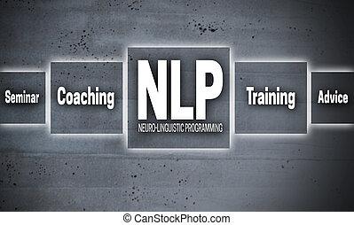 NLP touchscreen concept background