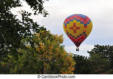 nm, balloon, horký, albuquerque, stavět na odiv
