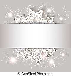 noël, étoile, flocon de neige, carte voeux