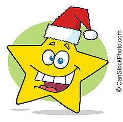 noël, étoile jaune