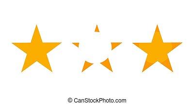 noël, étoile, trois, icônes