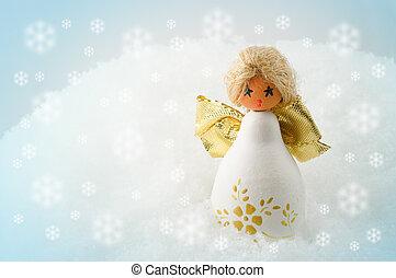 noël, ange, dans, les, neige