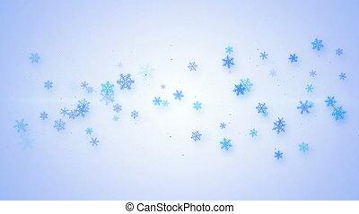 noël, animation, flocons neige, boucle, seamless