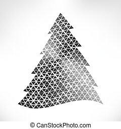 noël, arbre., vecteur, illustration