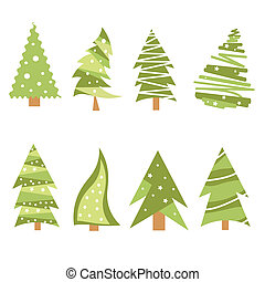 noël arbres