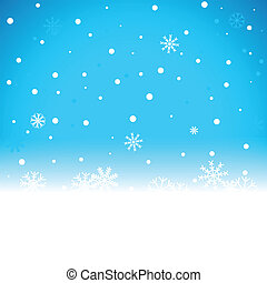 noël, arrière-plan bleu, à, neige émiette