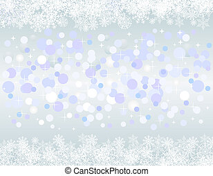 noël, arrière-plan bleu, à, neige
