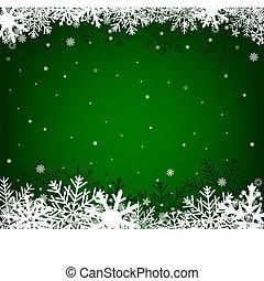 noël, arrière-plan vert