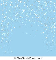 noël, bleu, flocons neige, fond