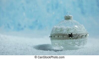 noël boule, neige