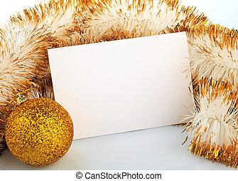 noël, carte, salutation