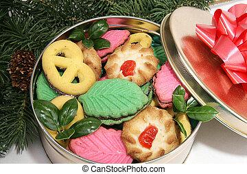 noël cookie, arbre, sous