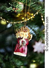 noël, décoré, arbre, beau