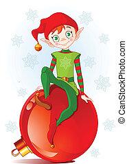 noël, elfe, séance