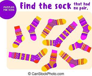 noël, ensemble, assorti, choses, chaud, esprit, illustration, style., jeu, vecteur, socks., match., rayé, frais, trouver, gosse