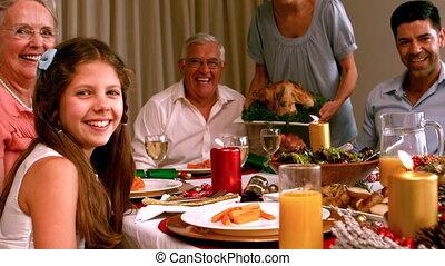 noël, famille, dinant