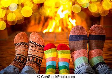noël famille, vacances, hiver, noël