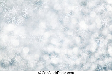 noël, flocons neige, arrière-plan.