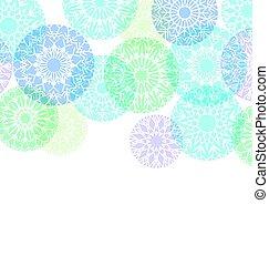 noël, flocons neige, classique, résumé, neige, illustration, rond, décoration, arrière-plan., vecteur, gabarit, forme., noël, toile de fond