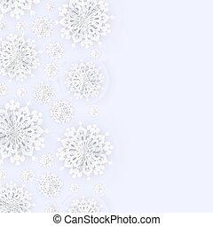 noël, flocons neige, fond