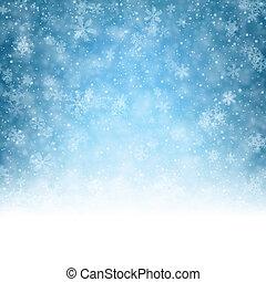 noël, fond, à, crystallic, snowflakes.
