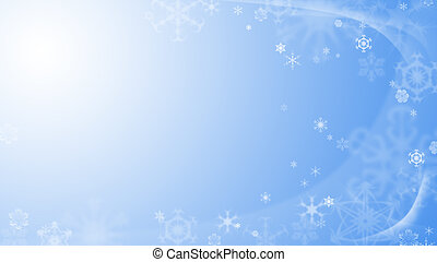 noël, fond, à, flocons neige