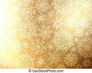 noël, fond, à, snowflakes., eps, 8