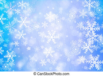 noël, fond, à, snowflakes.